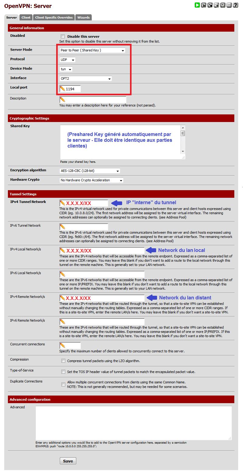 OpenVPN sous Pfsense 3