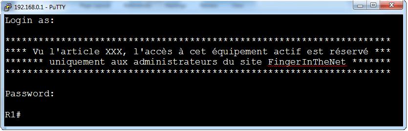 Authentifiez-vous via le protocole SSH