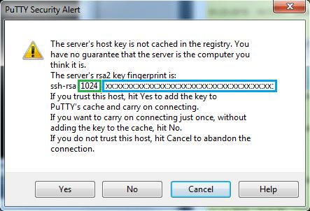 SSH - Accepter la clé RSA