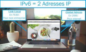 Deux adresses IPv6 par poste client