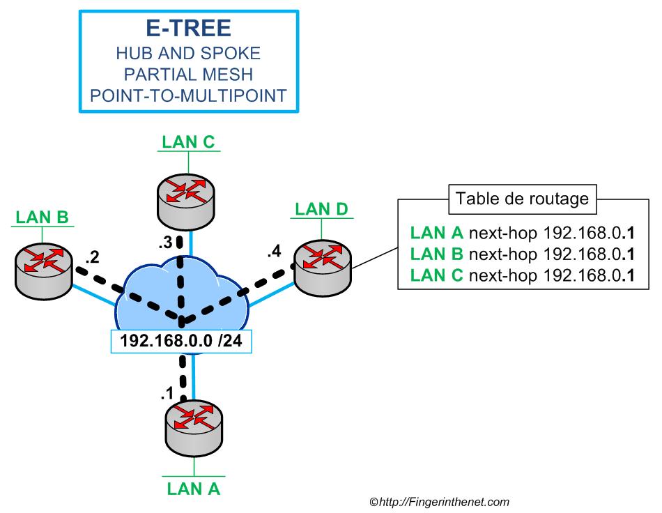 Ethernet Tree Service (E-Tree)