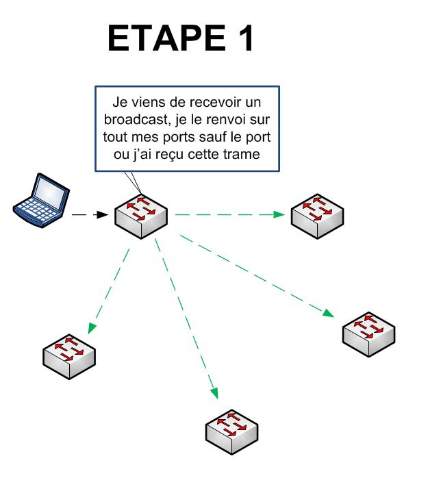 Spanning Tree - Etape 1